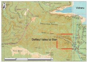 Hartă Topografică Valea Lui Stan