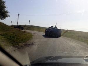 Vehicul militar in zona localitatii Cincu