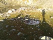 Gunoaie la locul de campare de la lacul Podul Giurgiului