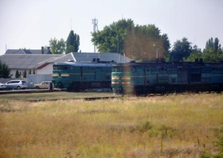 Automotoare în gara din Tighina