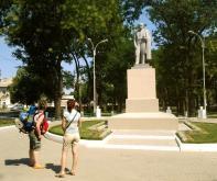 Statuia pictorului și poetului romantic ucrainean, Taras Șevcenko, considerat poetul național al Ucrainei.