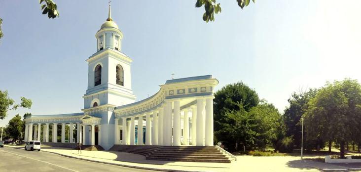 """Catedrala """"Acoperămantul Maicii Domnului"""" din Ismail, ridicată în perioada 1822-1836"""