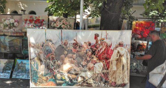 Răspunsul cazacilor zaporojeni către sultanul Mehmed al IV-lea al Imperiului Otoman este un tablou celebru al pictorului rus Ilia Repin. Scena înfățișează atitudinea plină de zeflemea a conducătorilor cazaci, la adresa sultanului, atitudine transmisă prin intermediul unei scrisori, plină de injurii și afronturi